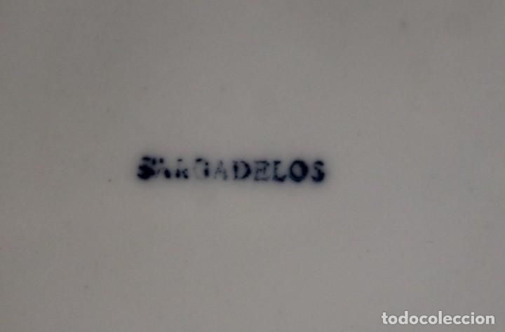 Antigüedades: Piezas de queimada Sargadelos, escanciador, base y nueve pocillos - Foto 5 - 226379635