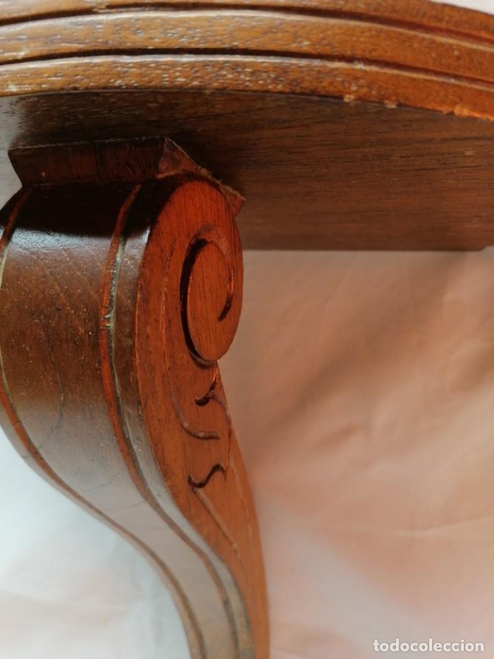 Antigüedades: Antiguo mensula curva en madera - Foto 2 - 226451411
