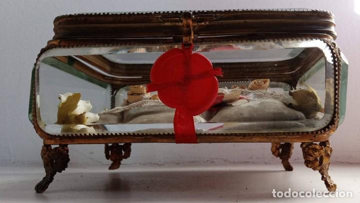 RELICARIO - HUESO GRAN TAMAÑO - SAN ISIDORO - LACRADO - EN PRECIOSA URNA - RELIQUIA (Antigüedades - Religiosas - Relicarios y Custodias)