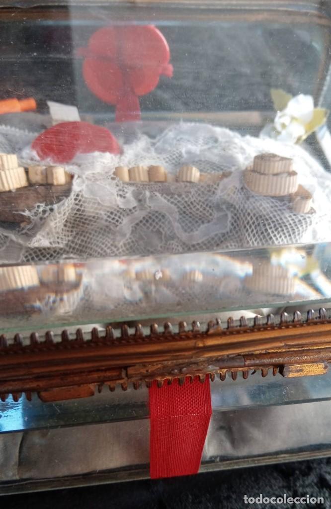 Antigüedades: RELICARIO - HUESO gran tamaño - SAN ISIDORO - LACRADO - EN PRECIOSA URNA - RELIQUIA - Foto 6 - 226454560