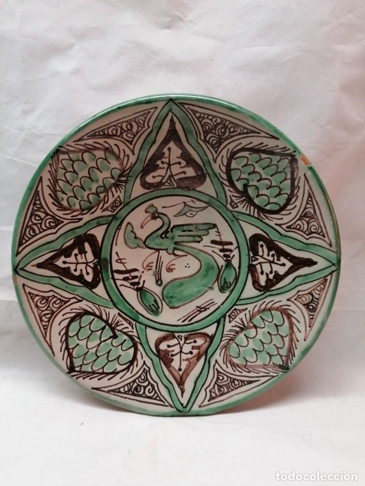 Antigüedades: Lote de tres platos de la firma Punter - Foto 6 - 226470205