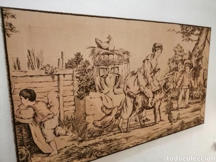 Antigüedades: TAPIZ ESCENA DE LA ÉPOCA CON PREMARCO - Foto 2 - 226479630