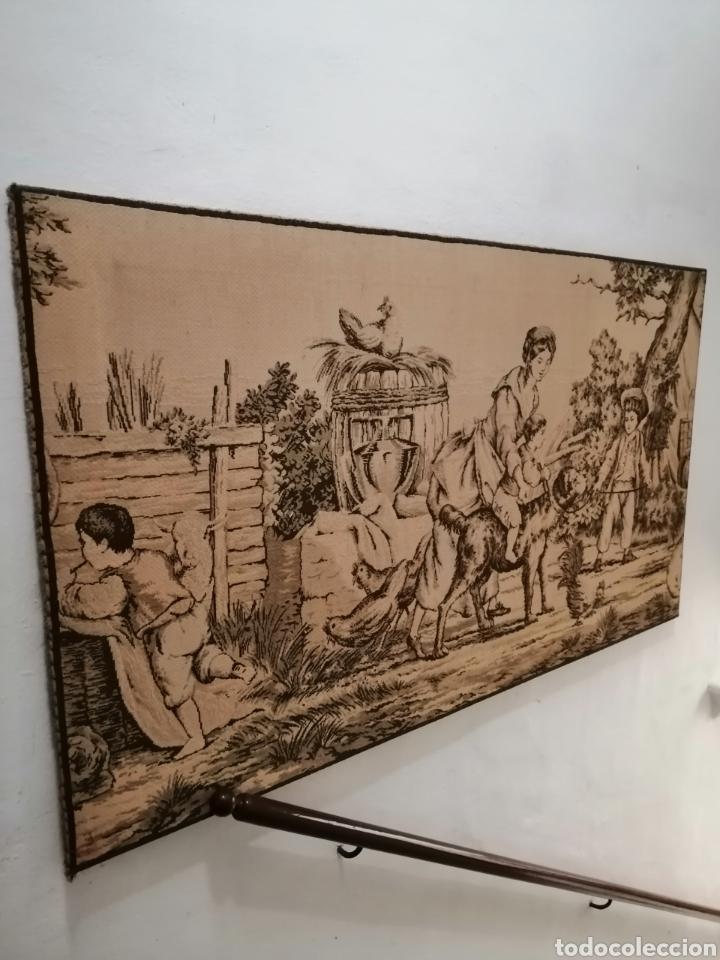 Antigüedades: TAPIZ ESCENA DE LA ÉPOCA CON PREMARCO - Foto 3 - 226479630