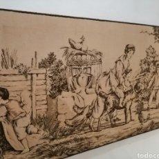 Antigüedades: TAPIZ ESCENA DE LA ÉPOCA CON PREMARCO. Lote 226479630