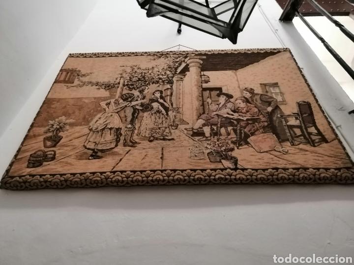 Antigüedades: TAPIZ ESCENA DE LA ÉPOCA CON PREMARCO - Foto 2 - 226480510