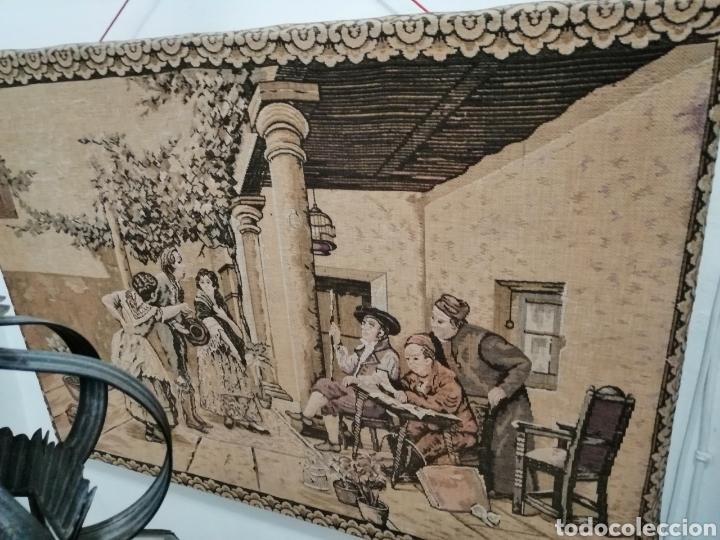 Antigüedades: TAPIZ ESCENA DE LA ÉPOCA CON PREMARCO - Foto 3 - 226480510