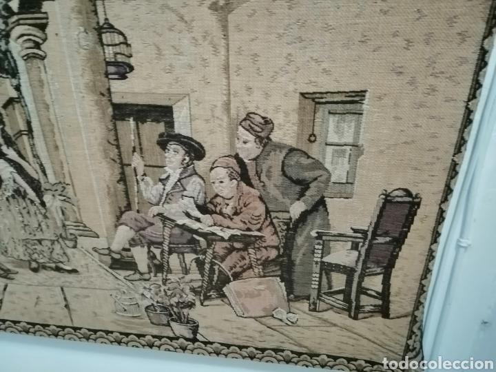 Antigüedades: TAPIZ ESCENA DE LA ÉPOCA CON PREMARCO - Foto 4 - 226480510