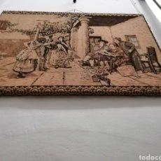 Antigüedades: TAPIZ ESCENA DE LA ÉPOCA CON PREMARCO. Lote 226480510