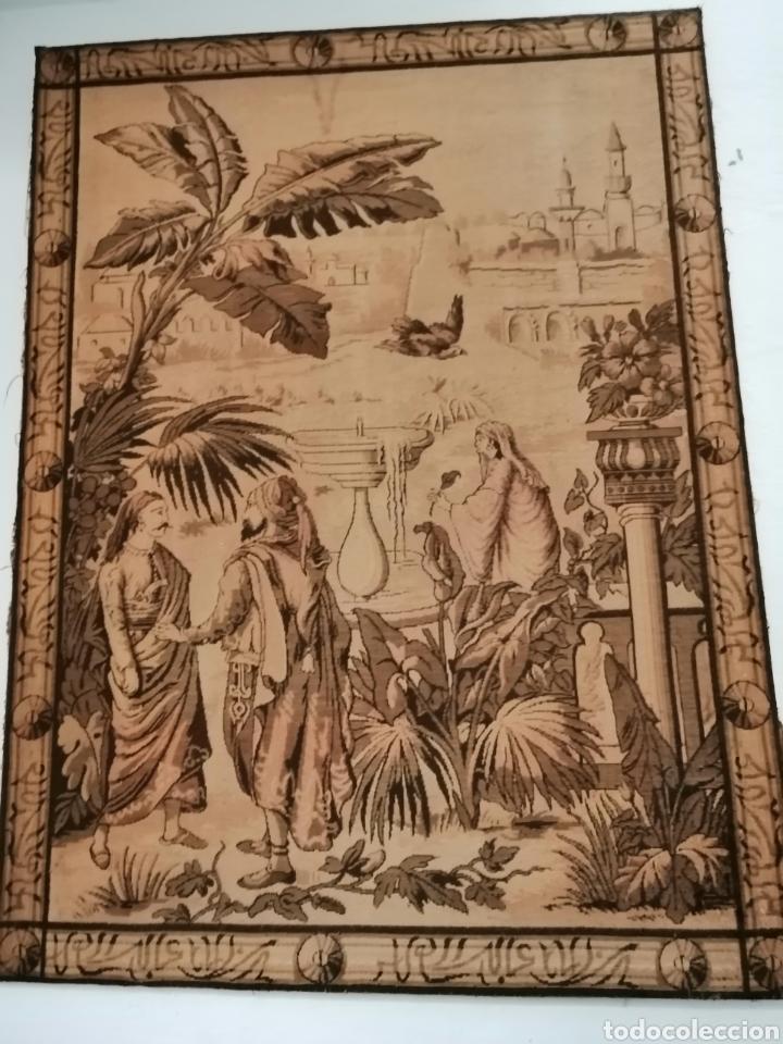 Antigüedades: TAPIZ ESCENA DE LA ÉPOCA CON PREMARCO - Foto 2 - 226481400