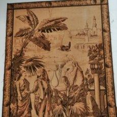 Antigüedades: TAPIZ ESCENA DE LA ÉPOCA CON PREMARCO. Lote 226481400