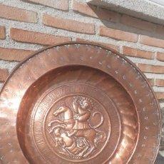 Antigüedades: PLATO LIMOSNERO SIGLO XIX. SAN JORGE.. Lote 226490035