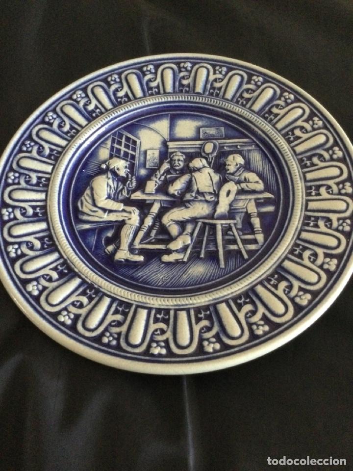 Antigüedades: Plato de cerámica alemana Gerz - Foto 2 - 226502730