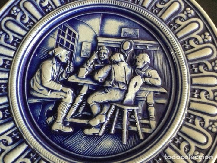 Antigüedades: Plato de cerámica alemana Gerz - Foto 3 - 226502730