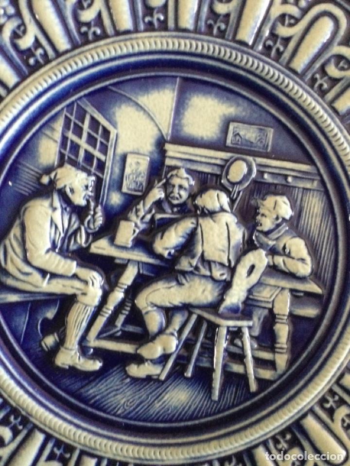 Antigüedades: Plato de cerámica alemana Gerz - Foto 4 - 226502730
