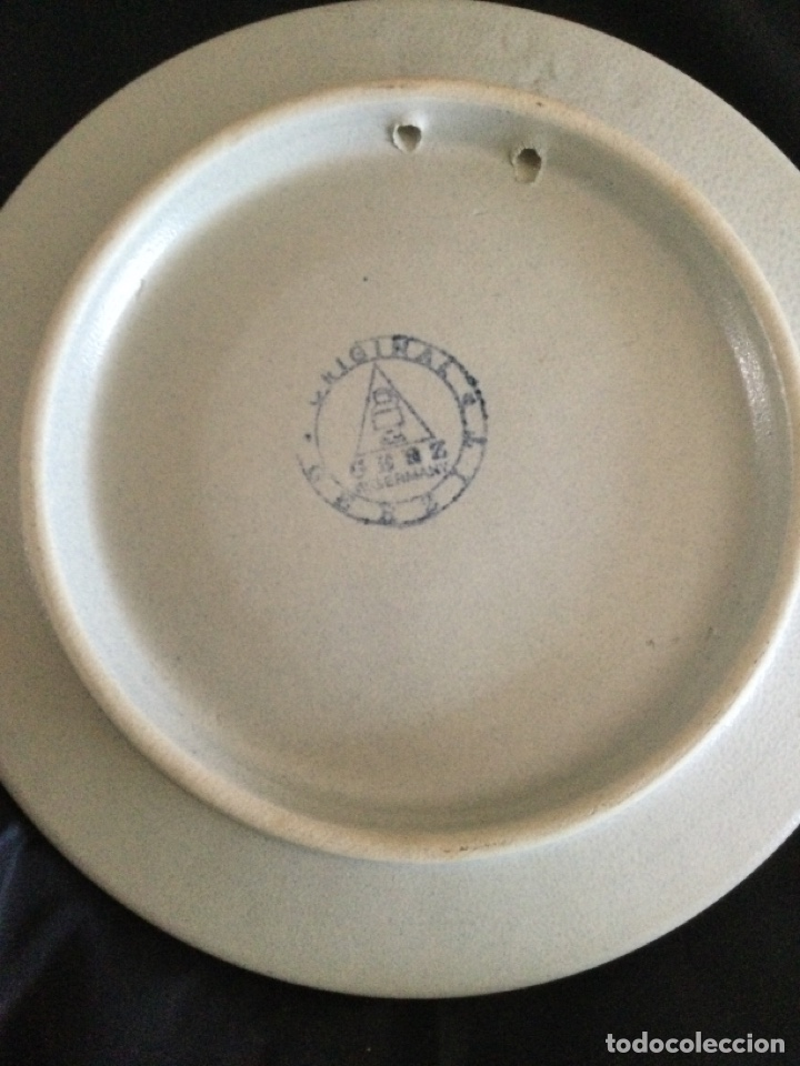 Antigüedades: Plato de cerámica alemana Gerz - Foto 5 - 226502730