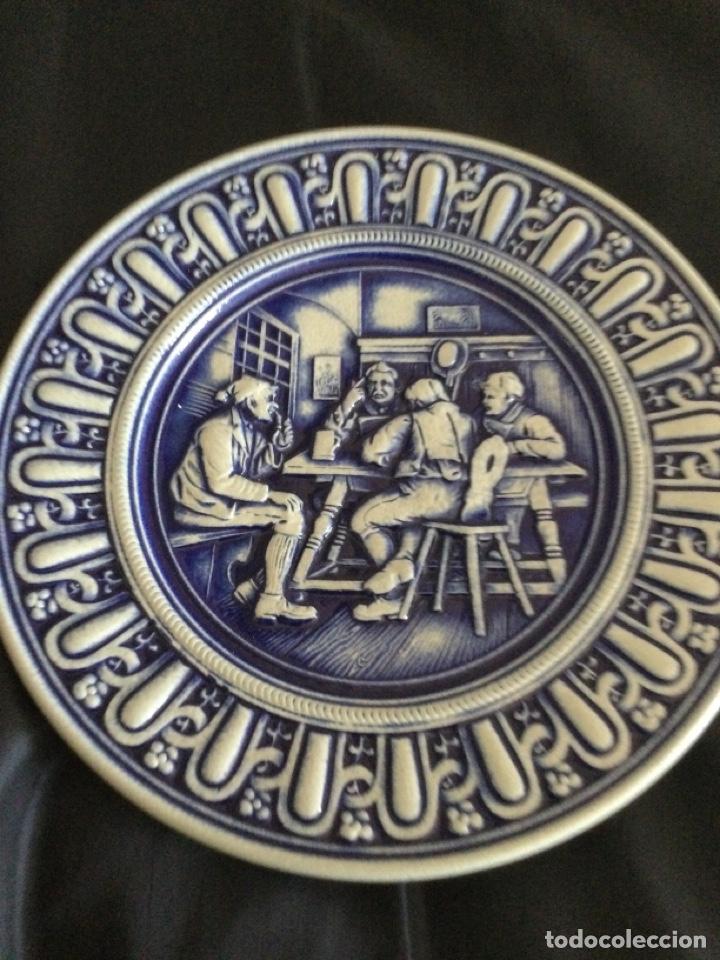 PLATO DE CERÁMICA ALEMANA GERZ (Antigüedades - Porcelana y Cerámica - Alemana - Meissen)