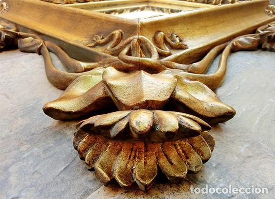IMPRESIONANTE Y GRAN ESPEJO MODERNISTA - MADERA - ESTUCO - PAN DE ORO - ALTA DECORACIÓN - NOUVEAU (Antigüedades - Muebles Antiguos - Espejos Antiguos)