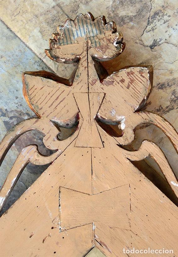 Antigüedades: IMPRESIONANTE Y GRAN ESPEJO MODERNISTA - MADERA - ESTUCO - PAN DE ORO - ALTA DECORACIÓN - NOUVEAU - Foto 14 - 226510760