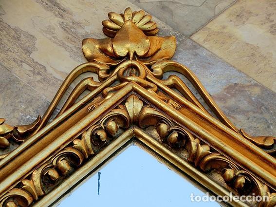 Antigüedades: IMPRESIONANTE Y GRAN ESPEJO MODERNISTA - MADERA - ESTUCO - PAN DE ORO - ALTA DECORACIÓN - NOUVEAU - Foto 22 - 226510760