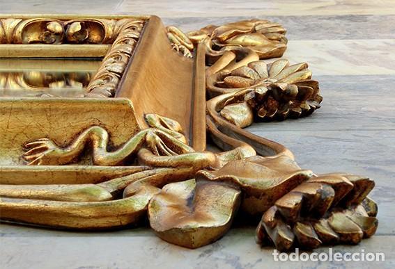 Antigüedades: IMPRESIONANTE Y GRAN ESPEJO MODERNISTA - MADERA - ESTUCO - PAN DE ORO - ALTA DECORACIÓN - NOUVEAU - Foto 29 - 226510760