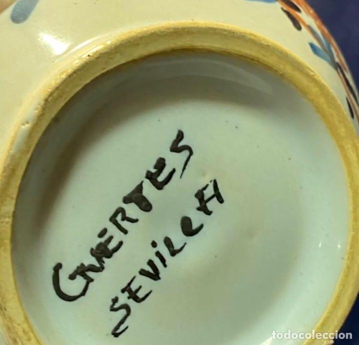 Antigüedades: ANTIGUO LOTE JARRAS CERÁMICA GUERTES SEVILLA TRIANA - Foto 15 - 226573100