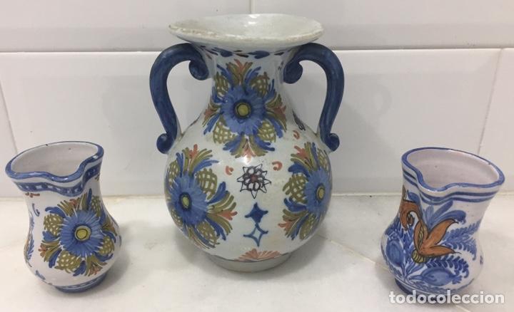 ANTIGUO LOTE JARRAS CERÁMICA GUERTES SEVILLA TRIANA (Antigüedades - Porcelanas y Cerámicas - Triana)