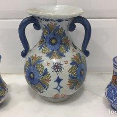 Antigüedades: ANTIGUO LOTE JARRAS CERÁMICA GUERTES SEVILLA TRIANA. Lote 226573100