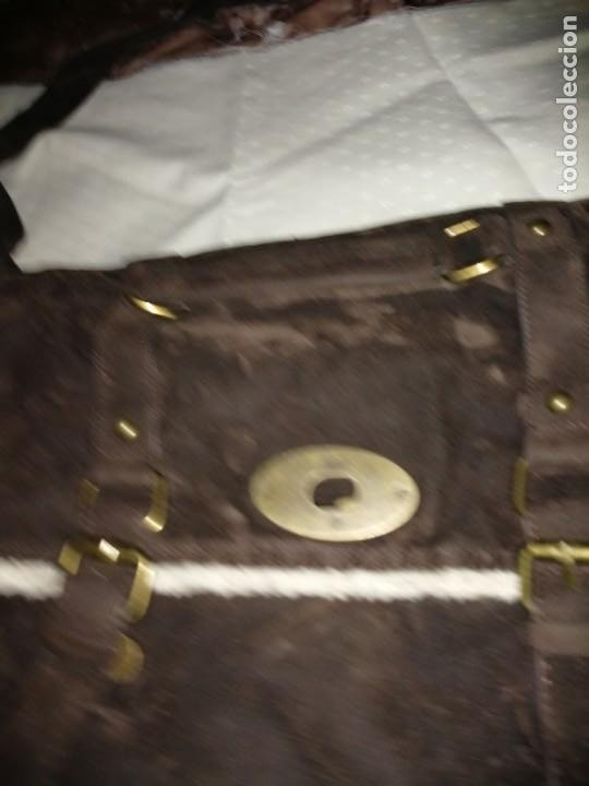 Antigüedades: Bolso maletín de antelina - Foto 2 - 226577650