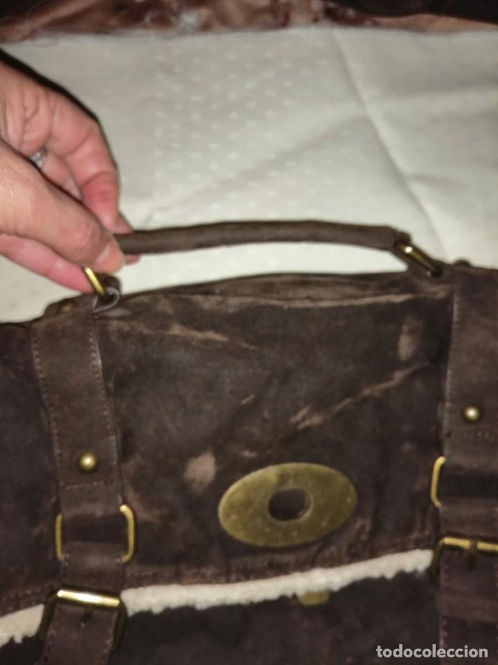 Antigüedades: Bolso maletín de antelina - Foto 3 - 226577650