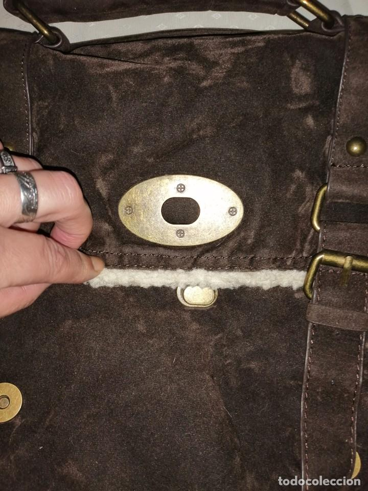 Antigüedades: Bolso maletín de antelina - Foto 4 - 226577650