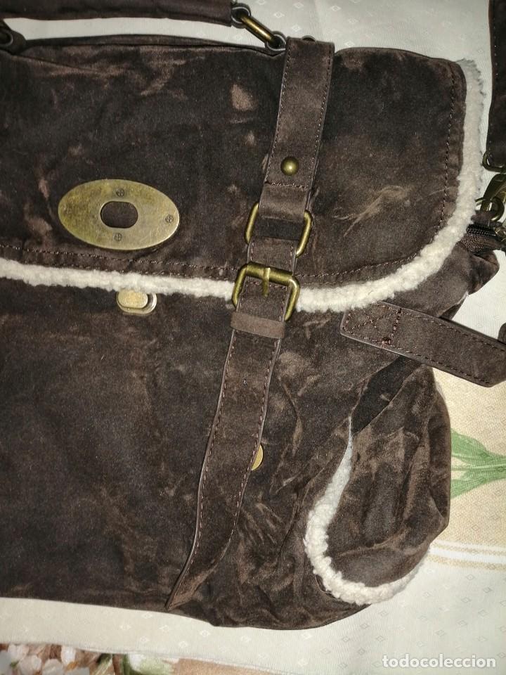 Antigüedades: Bolso maletín de antelina - Foto 5 - 226577650
