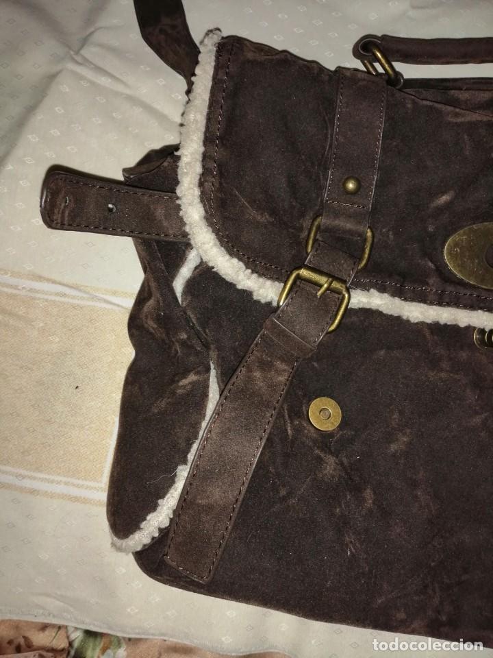 Antigüedades: Bolso maletín de antelina - Foto 6 - 226577650