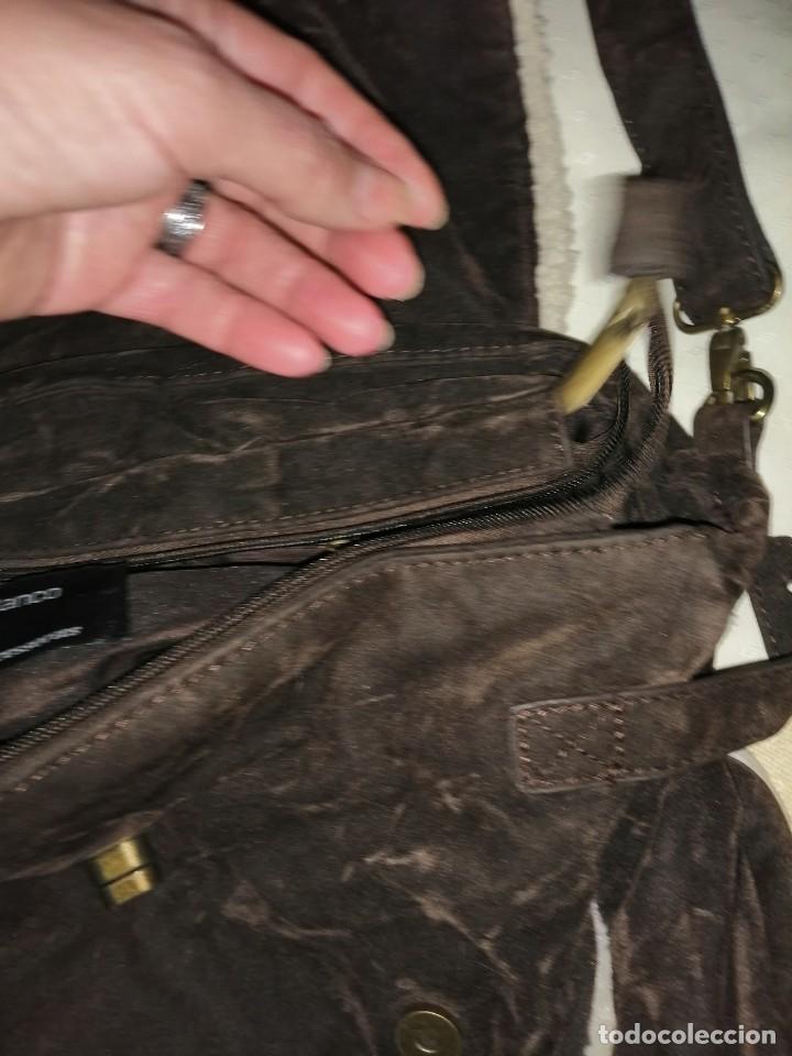 Antigüedades: Bolso maletín de antelina - Foto 9 - 226577650