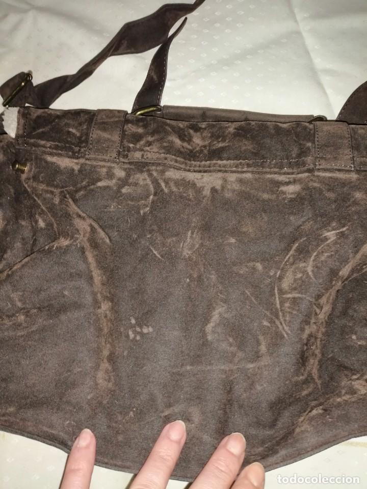 Antigüedades: Bolso maletín de antelina - Foto 11 - 226577650