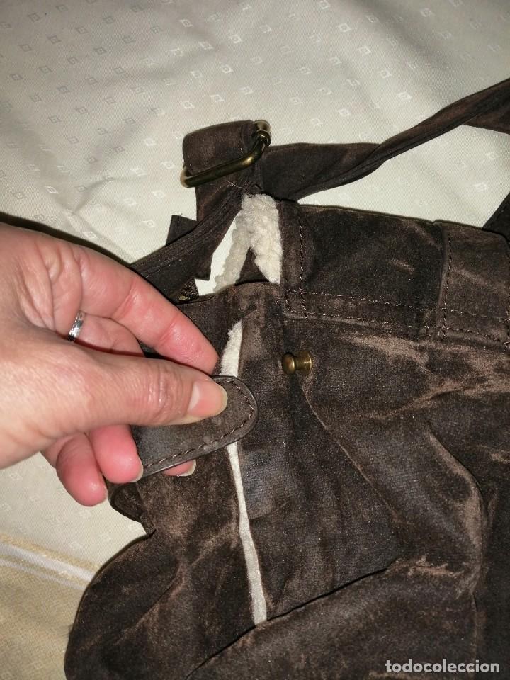 Antigüedades: Bolso maletín de antelina - Foto 12 - 226577650