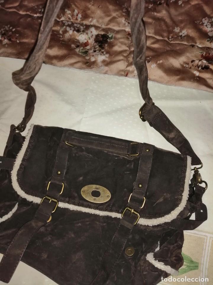 Antigüedades: Bolso maletín de antelina - Foto 13 - 226577650