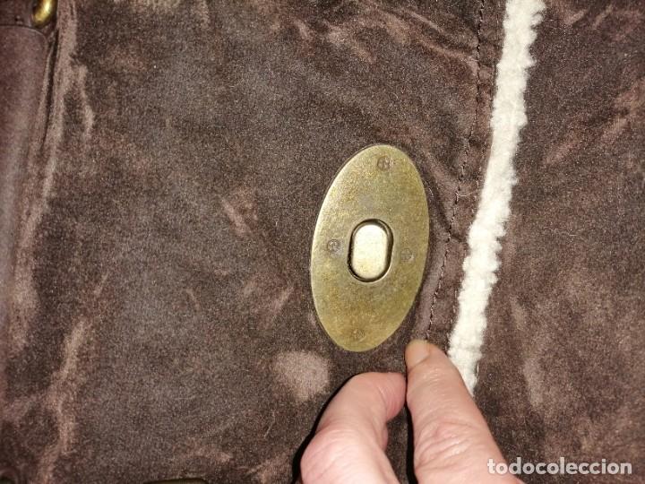 Antigüedades: Bolso maletín de antelina - Foto 16 - 226577650