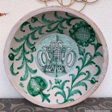 Antigüedades: GRAN LEBRILLO VERDE DE LOZA GRANADINA. FAJALAUZA. PUBLICIDAD SEAT. Lote 226630235