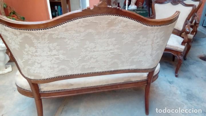 Antigüedades: juego de sillones isabelinos-5 piezas- - Foto 14 - 226634455