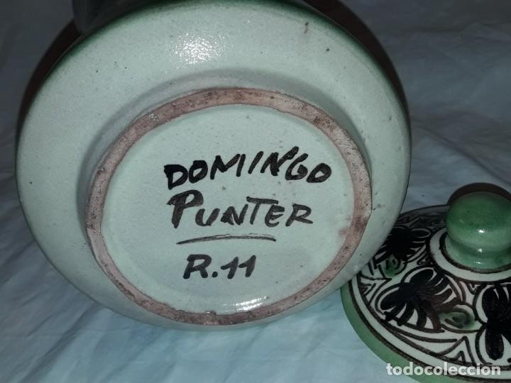 Antigüedades: Espléndido antiguo gran tarro albarelo con tapa cerámica Domingo Punter Teruel R -11 36cm - Foto 11 - 226644780