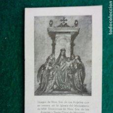 Antiquités: ESTAMPA IMAGEN DE NTRA. DE LOS ANGELED DOMIMICAS STA. CLARA D MANRESA. Lote 226673635