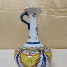 Antigüedades: JARRÓN DE TALAVERA DE LA REINA (TOLEDO) FABRICADO Y PINTADO A MANO NIVEHICA. 29 CM. Lote 226757125