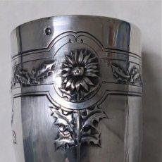 Antiquités: VASO DE PLATA DE LEY ( CON CONTRASTE). MOTIVOS FLORALES. Lote 226777510
