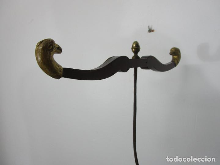Antigüedades: Bonita Cuna Imperio - Madera de Caoba y Limoncillo - Talla de Madera - Principios S. XIX - Foto 20 - 226784440