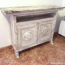 Antigüedades: ALACENA DE MADERA CON TAPA DE MARMOL. Lote 226794419