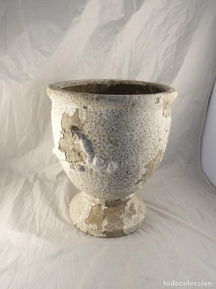 Antigüedades: MACETERO DE TERRACOTA Tengo pareja - Foto 2 - 226816585