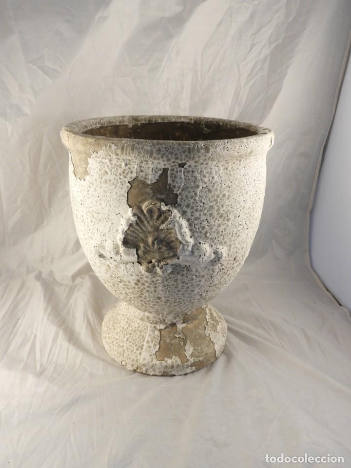 Antigüedades: MACETERO DE TERRACOTA Tengo pareja - Foto 3 - 226816585