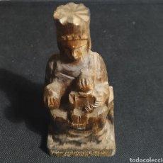 Antigüedades: VIRGEN DE MONTSERRAT,TALLADA EN MADERA. Lote 226863165