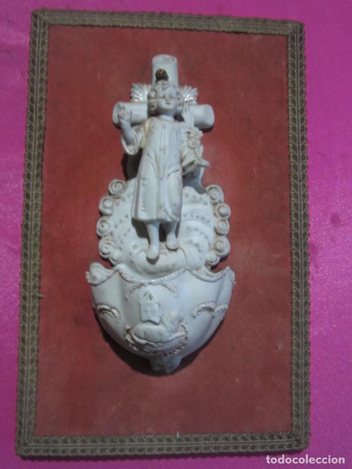 Antigüedades: BENDITERA DE PORCELANA BISCUIT MUY BONITA Y ANTIGUA - Foto 3 - 226866055