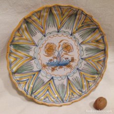 Antigüedades: PLATO EN CERÁMICA, S. XVIII -RIBESALBES ?-. Lote 226868455